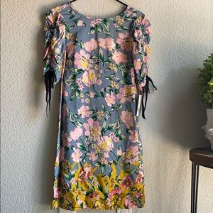 Donna Morgan Floral Printed T-Shirt Dress